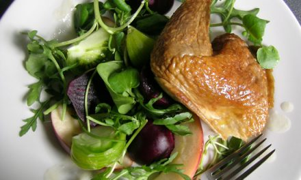 Bradley Sweet Smoked Guinea Fowl Salad with Horseradish Dressing